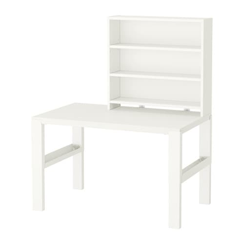 P hl scrivania con scaffale bianco ikea for Bureau 90x40