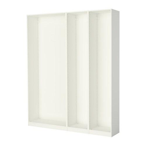 Pax 3 strutture per guardaroba 200x35x236 cm bianco for Ikea guardaroba componibile