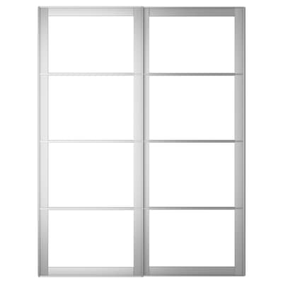 PAX 2 telai per ante scorrevoli, alluminio, 150x201 cm