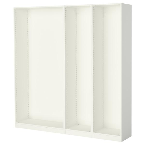 Armadietti In Plastica Ikea.Pax 3 Strutture Per Guardaroba Bianco Ikea
