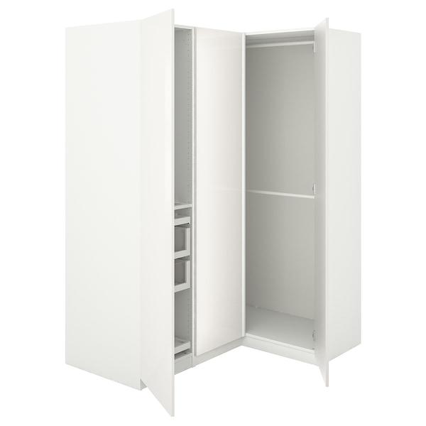 Armadi Ikea Ad Angolo.Pax Guardaroba Angolare Bianco Fardal Lucido Bianco 160 111x201