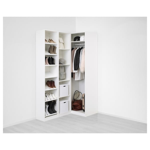 Armadio A Angolo Ikea.Pax Guardaroba Angolare Bianco Flisberget Beige Chiaro 160