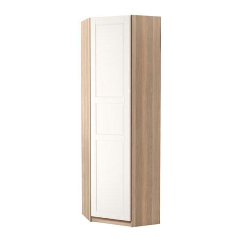 Pax guardaroba angolare tyssedal bianco effetto rovere for Ikea angolare pax