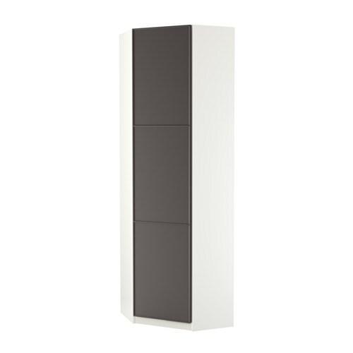 Pax guardaroba angolare mer ker grigio scuro bianco 73 for Ikea angolare pax