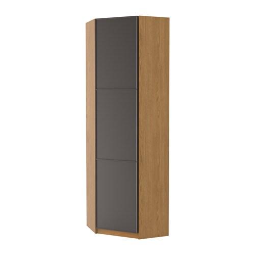 Pax guardaroba angolare mer ker grigio scuro effetto for Ikea angolare pax