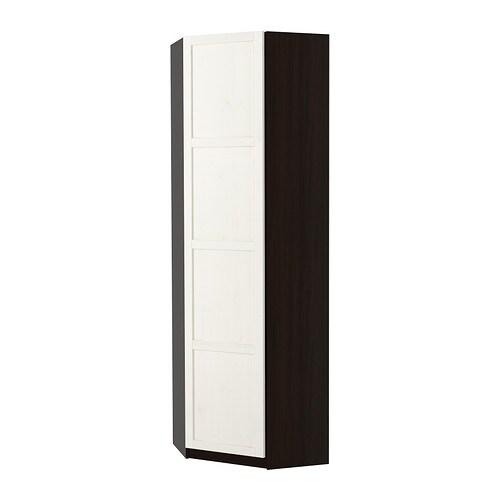 Pax guardaroba angolare hemnes mordente bianco marrone for Ikea angolare pax
