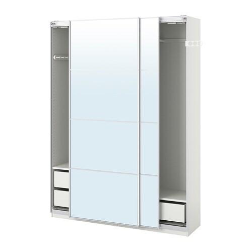 Ikea It Guardaroba.Pax Guardaroba Bianco Auli Vetro A Specchio