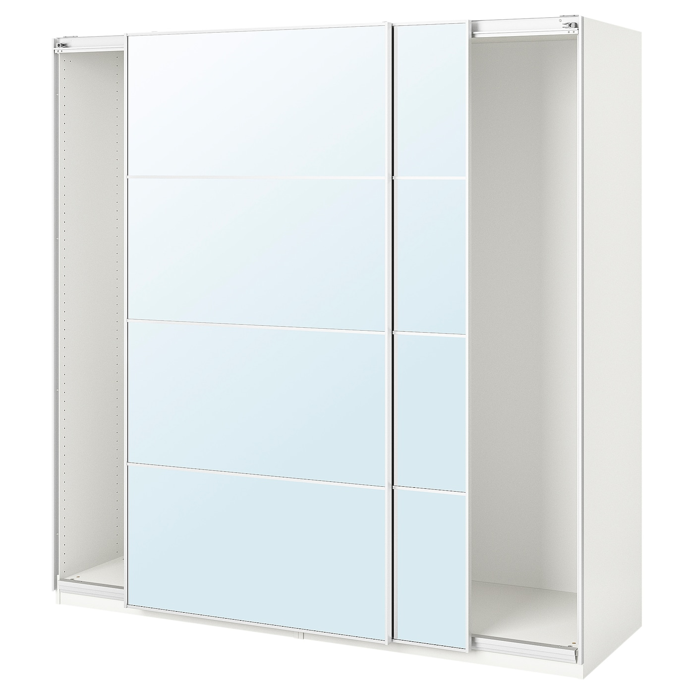 PAX Guardaroba con ante scorrevoli - bianco/Auli vetro a ...