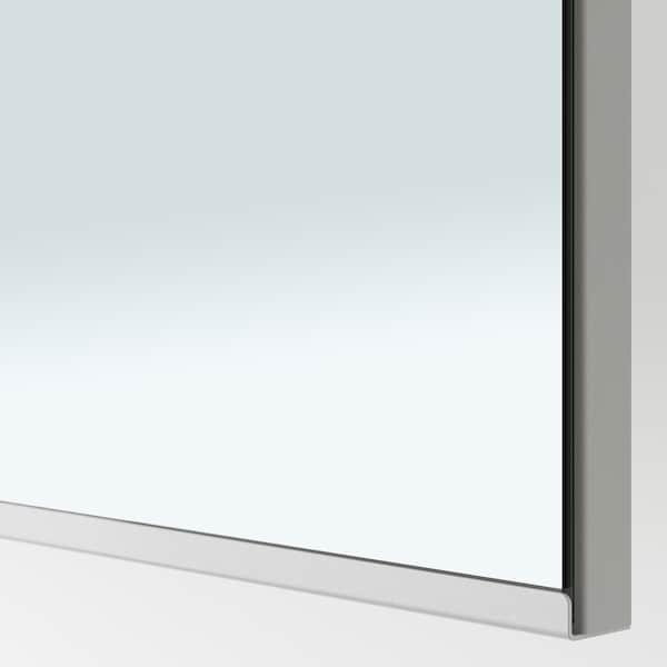 PAX / VIKEDAL Combinazione di guardaroba, marrone-nero/vetro a specchio, 150x38x201 cm