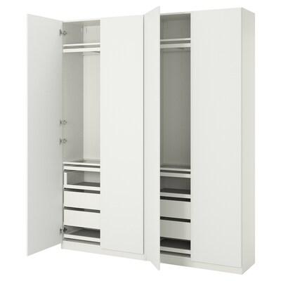 PAX / VINTERBRO Combinazione di guardaroba, bianco, 200x38x236 cm