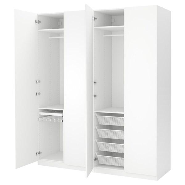 Ikea Catalogo Armadio Guardaroba.Pax Guardaroba Bianco Vikanes Bianco 200x60x236 Cm Ikea