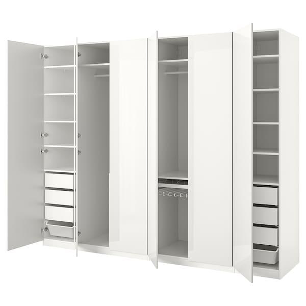 Ikea Guardaroba Pax Komplement Sistema Componibile.Pax Guardaroba Bianco Fardal Lucido Bianco 300x60x236 Cm Ikea