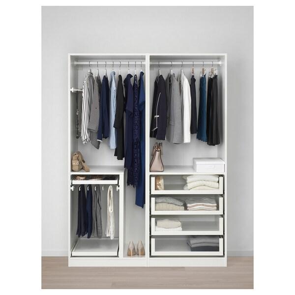 Ikea Guardaroba Pax Komplement Sistema Componibile.Pax Guardaroba Bianco Hokksund Lucido Blu Scuro Blu Nero Ikea