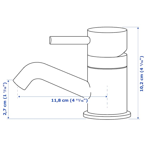 PILKÅN Miscelatore lavabo/valvola scarico, cromato