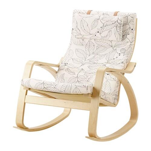 Sedia A Dondolo Poang Ikea Prezzo.Poang Sedia A Dondolo Impiallacciatura Di Betulla Vislanda Nero Bianco