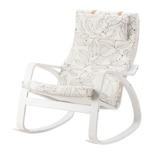 Po ng sedia a dondolo vislanda nero bianco ikea for Ikea dondolo