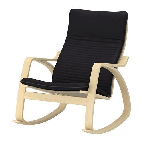 Po ng sedia a dondolo knisa nero ikea for Ikea sedia a dondolo bianca