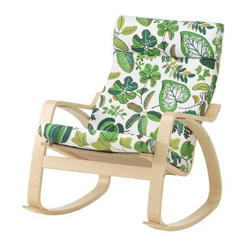 Po ng sedia a dondolo simmarp verde ikea for Ikea dondolo