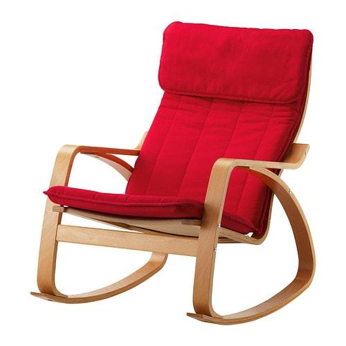 Po ng sedia a dondolo alme mattone impiallacciatura di - Ikea sedia dondolo ...