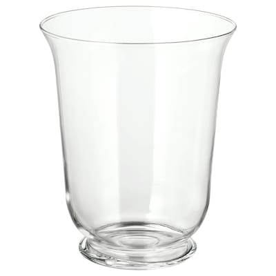 POMP Vaso/lanterna, vetro trasparente, 28 cm
