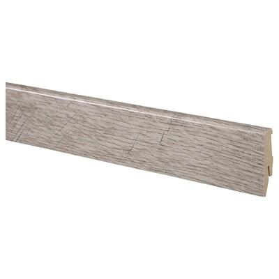 PRÄRIE Battiscopa, effetto rovere/marrone, 200 cm