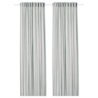 PRAKTKLOCKA Tenda, 2 teli, grigio/a righe, 145x300 cm