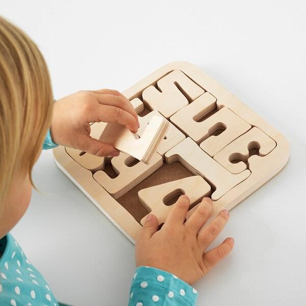 PYSSLA puzzle numeri/compensato 19.5 cm 19.5 cm