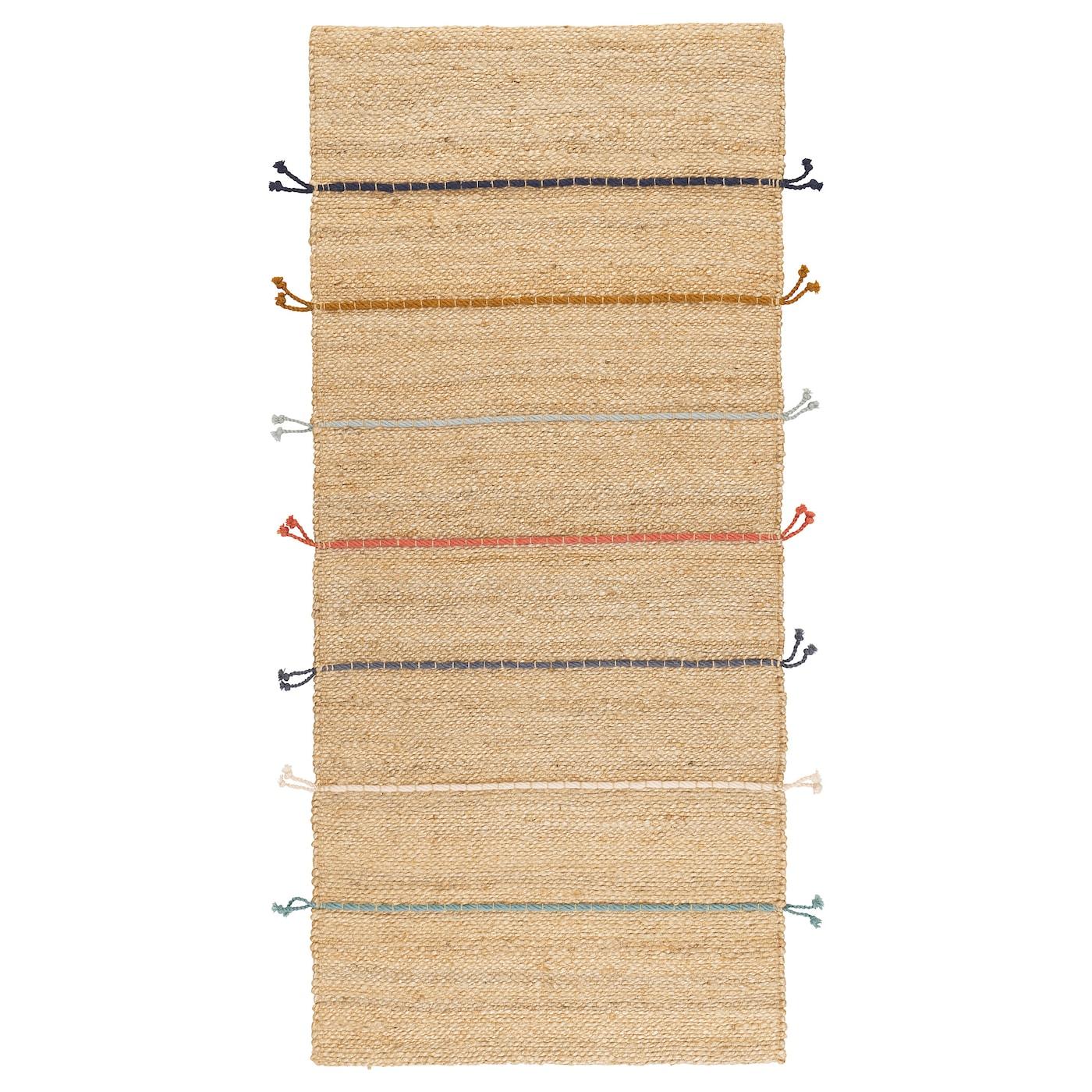 Lavare Tappeto Lana Ikea raklev tappeto, tessitura piatta - fatto a mano naturale, fantasia 70x160 cm