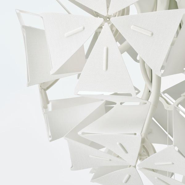 RAMSELE Lampada a sospensione, geometrico/bianco, 43 cm