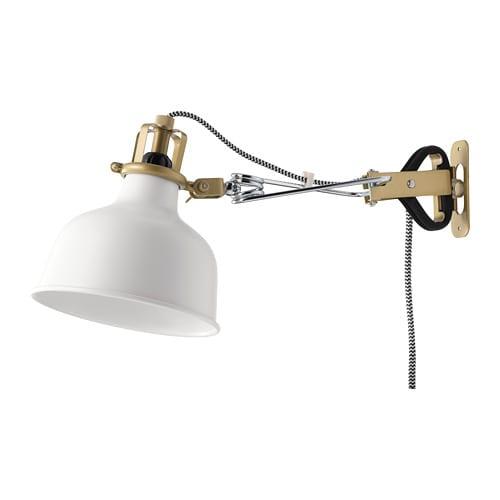 Ranarp faretto da parete con morsetto ikea for Ikea lampade da parete