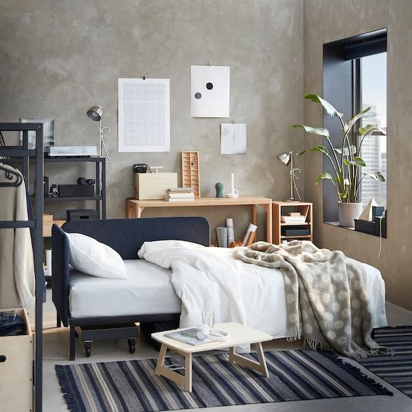 RÅVAROR Letto divano, Vansta blu scuro, 90x200 cm