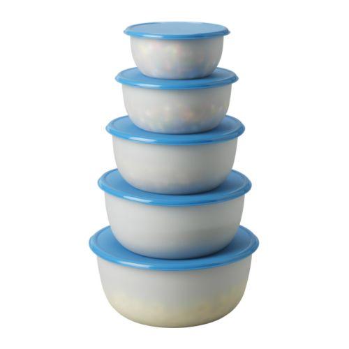 Reda set di 5 contenitori per alimenti ikea - Alimenti per andare in bagno ...