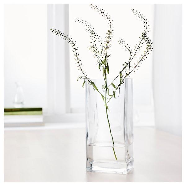 REKTANGEL Vaso, vetro trasparente, 22 cm
