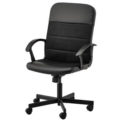 RENBERGET sedia girevole Bomstad nero 110 kg 59 cm 65 cm 108 cm 49 cm 42 cm 45 cm 57 cm