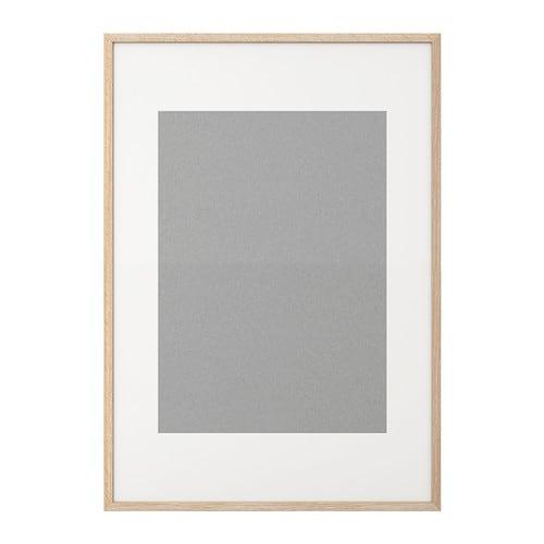Ribba cornice effetto rovere con mordente bianco ikea for Cornici ikea 70x100