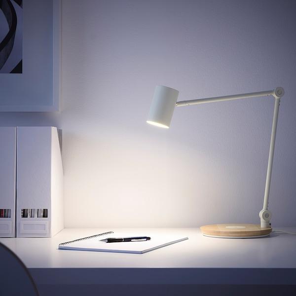 RIGGAD Lampada lavor LED/ricarica wireless, bianco
