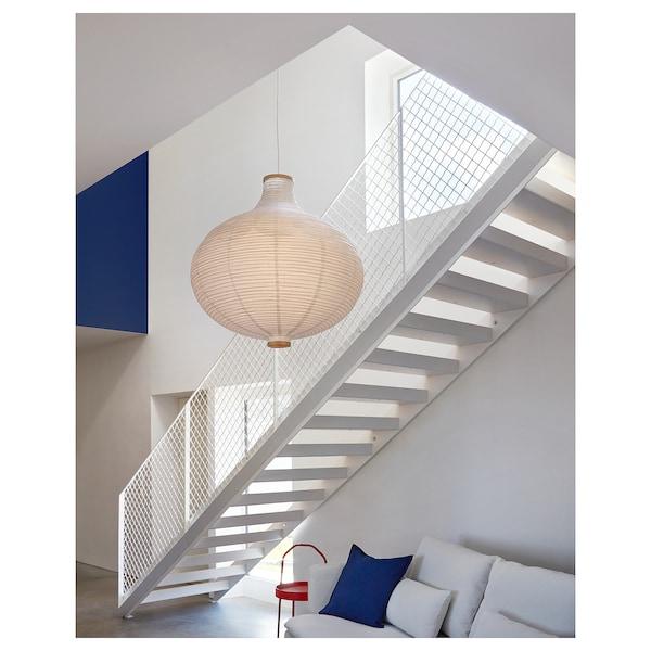 RISBYN Paralume per lampada a sospensione, a forma di cipolla/bianco, 57 cm
