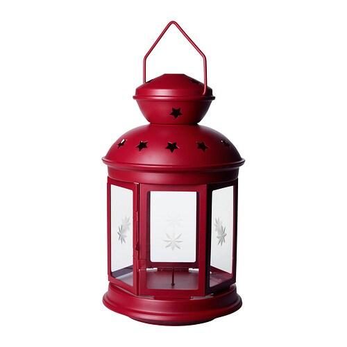 ROTERA Lanterna per cero IKEA Sia per interni che per esterni.
