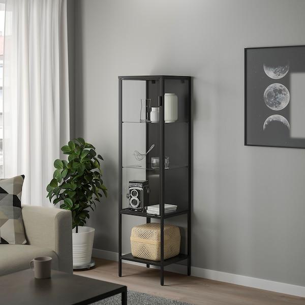 RUDSTA Vetrina, antracite, 42x37x155 cm