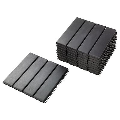 RUNNEN pedana da esterno grigio scuro 0.81 m² 30 cm 30 cm 2 cm 9 pezzi