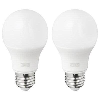 RYET Lampadina a LED E27 1055 lumen, globo bianco opalino