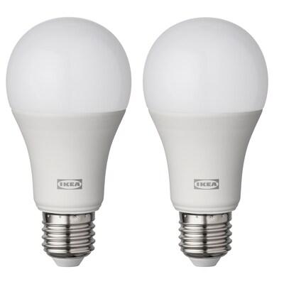 RYET Lampadina a LED E27 1521 lumen, globo bianco opalino