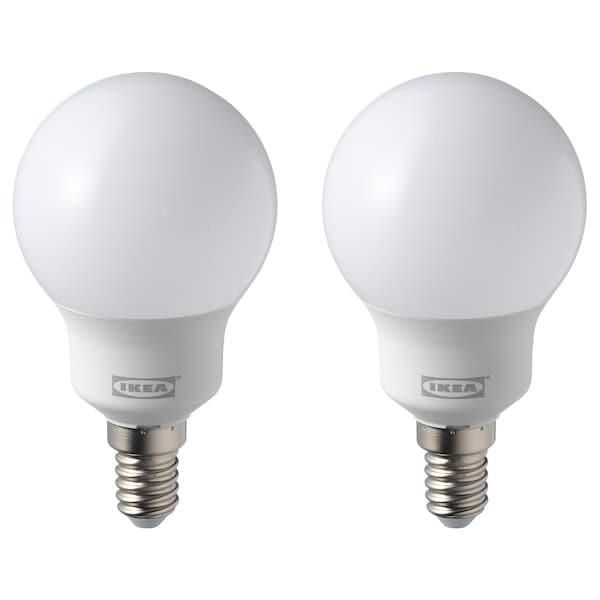RYET lampadina LED E14 600 lumen globo bianco opalino 5000 K 600 lm 5.4 W 2 pezzi