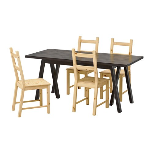Ryggestad grebbestad ivar tavolo e 4 sedie ikea - Tavolo sedie ikea ...