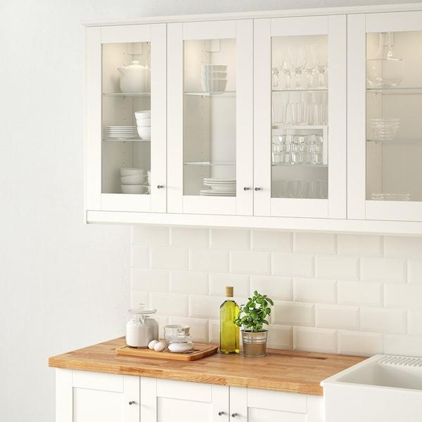 SÄVEDAL Anta a vetro, bianco, 40x80 cm