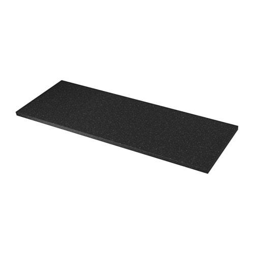 SÄLJAN Piano di lavoro - nero effetto minerale, 186x3.8 cm - IKEA