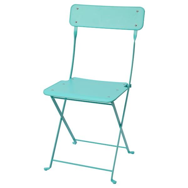 Ikea Sedie Giardino Pieghevoli.Saltholmen Sedia Da Giardino Pieghevole Turchese Ikea