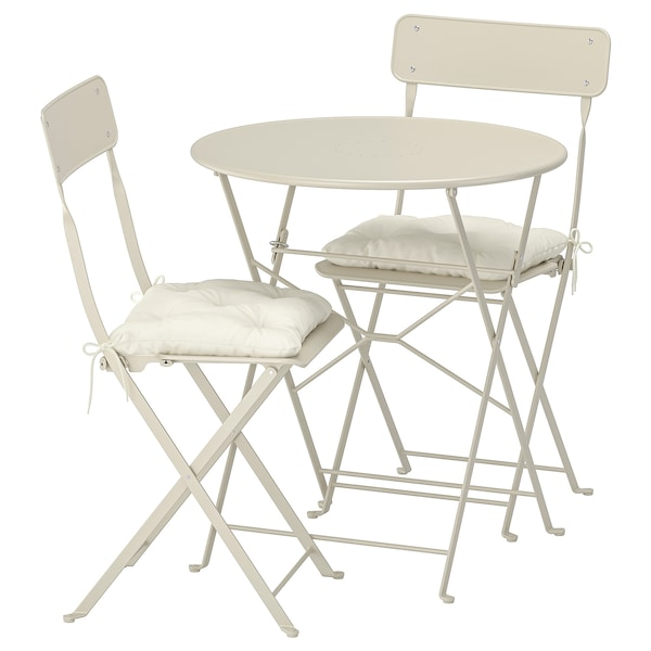 Ikea Sedie Pieghevoli Giardino.Saltholmen Tavolo 2 Sedie Pieghevoli Giardino Beige Kuddarna