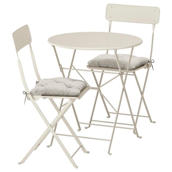 Sedie Giardino Plastica Ikea.Saltholmen Tavolo 2 Sedie Pieghevoli Giardino Beige Kuddarna