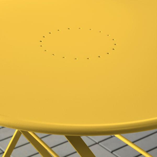 SALTHOLMEN tavolo da giardino pieghevole/giallo 71 cm 65 cm